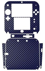 Blue Carbon Fiber Vinyl Decal Skin Sticker Case for Nintendo 2DS