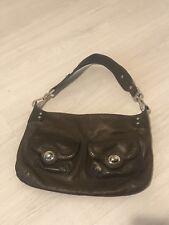 Ri2k Brown Leather Front Pocket Detail Shoulder Bag