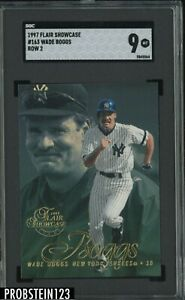 1997 Flair Showcase Row 2 #163 Wade Boggs New York Yankees HOF SGC 9 MINT