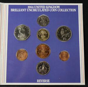GB 8 Piece 1 Pound to 1/2 Penny Royal Mint UNC Set 1984 (S-F1606)