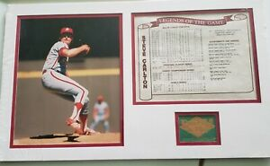 Matted Steve Carlton Print and Stats Brand New in Wrapper