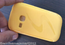 Imported Yellow S Design Soft back Case/Cover For Samsung Galaxy Young S6310