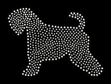 Soft Coated Wheaten terrier rhinestone bling transfer