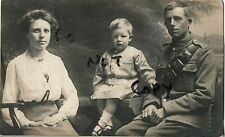 WW1 soldier family group Wife Gunner or Driver RGA Royal Garrison Artillery