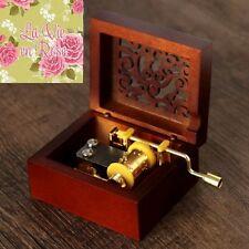 ♫ LA VIE EN ROSE   ♫ SQUARE CARVING HAND CRANK MUSIC BOX
