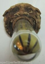 Old Figural Monster Head GULF INSURANCE Co Adv Thermometer Dallas Jersey City