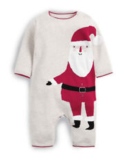 Mamas & Papas All in One Knitted Christmas Santa Claus Romper