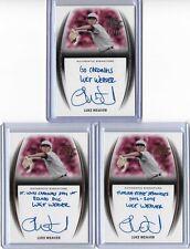 2014 Leaf Trinity Draft Luke Weaver Silver Inscription Auto 11/25 RC Cardinals