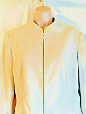 Bonmarche Faux Suede Jacket Camel/Beige/Nude Size 16 Zipper Fastening
