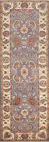 Blue Paisley Peshawar-Chobi Oriental Runner Rug Hand-knotted Wool 3x9 NEW Carpet