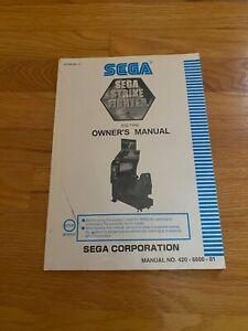 Sega Strike Fighter Video Arcade Game Owner's Manual, Sega 2000
