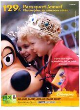 Une publicité des années 2000 pour le passeport Annuel à Disneyland Paris