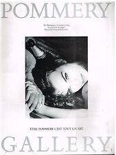 Publicité Advertising 1987 Champagne Pommery par Catherine Charbonnier