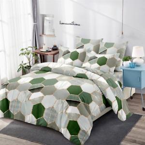Nordic Geometric Gradient Bedroom Duvet Quilt Cover Set Pillowcase Minimalist