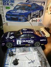 TAMIYA 1/10 RC Calsonic Skyline GT-R 4WD Racing Car Model Kit from Japan F/S