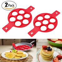 2 PCS Pancake Nonstick Cooking Tool Ring Maker Cheese Egg Cooker Pan Flip Mold