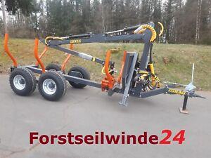Rückewagen Holzwagen KTS SBF 7t + 5,4m Kran, Neu Made in Schweden