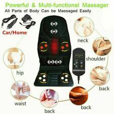 Vibrating Heated Back Massage Seat Cushion Car Seat Lumbar Neck Pad Massager