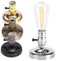 E27 Edison Retro Ceiling Light Wall Lamp Holder Bulb Socket With Switch