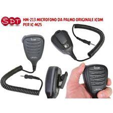 """ICOM HM-213 MICROFONO DA PALMO """"ORIGINALE"""" Waterproof PER IC M25, M35 e IC-M93 E"""