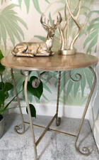 Vintage Retro Style Side Table Occasional Metal Iron Bedside Coffee Urban Boho