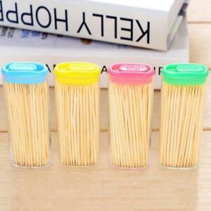 Bamboo Stick Tooth Picks Dental Floss Dental Care Oral Hygiene ToothPicks Box