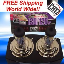 2 X FET CATZ H4 9003 Halogen Bulbs REV WHITE