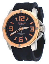 Omax Supreme TS671 Men's Octágono Stainless Steel Resin Band Sports Watch