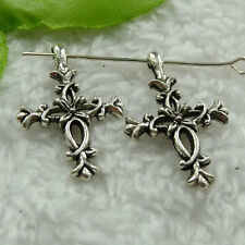 Free Ship 200 pieces tibet silver cross charms 28x18mm #1482