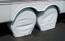 "2 ADCO VINYL TIRE COVERS Motorhome RV 27- 29"" White"