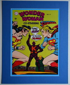 WONDER WOMAN #177 COVER PRINT Professionally Matted DC Supergirl