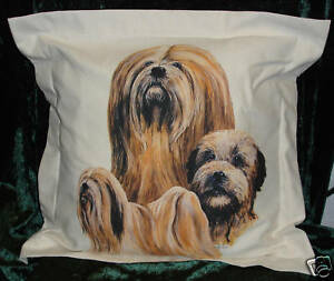 Hand Crafted Lhaso Apso dogs cushion cover