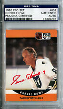 1990-91 Pro Set GORDIE HOWE Signed Card PSA/DNA Slabbed Auto Red Wings Whalers