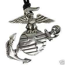 38E PEWTER Military USMC Marine Corp SEMPER FI Pendant