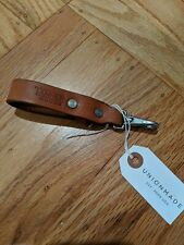 NWT TANNER GOODS LEATHER KEY LANYARD SADDLE TAN unionmade