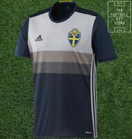 Sweden Away Shirt -Official adidas SVFF Sverige Football Jersey Mens - All Sizes