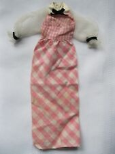 Barbie Mattel Quick Curl Dress Pink and White