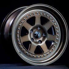 "18"" Wheels JNC048 18x8.5 / 18x9.5 5x114.3 Bronze Gold Rivets Rims JNC 048 Civic"