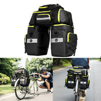 Cycling Bicycle Bike Rack Rear Seat Tail Carrier Trunk Triple Pannier Bag 75L