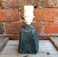 Small Vintage 1950s 1960s Mid Century Lamp Light Base Rock Stone Table Bedside