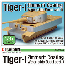 DEF Model 1/35 Tiger I Mid/Late Zimmerit Coating Decals Set 1 for Academy/Dragon