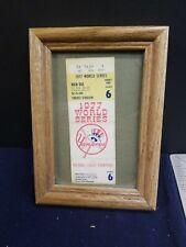 1977 WORLD SERIES GAME 6 TICKET REGGIE JACKSON 3 HOME RUNS MR. OCTOBER YANKEES