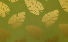 "COVINGTON SKYVERDURE PALM GREEN PALM LEAF JACQUARD FABRIC BY THE YARD 55""W"