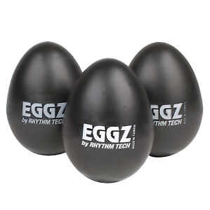 3 Pack Rhythm Tech RT-2110 Black Eggz Egg Shaker