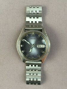 Vintage Mens SEIKO Automatic WATCH, 1970's, Day Date, 17 Jewels, 6D2138, WORKING