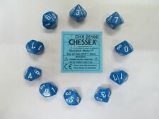 Chessex Dice Sets:Water Speckled - Ten Sided Die d10 Set (10) CHX 25106
