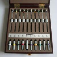 GF1123B Set of 10PCS Watch Repair Screwdrivers w/ Weight Sleeves in Wooden Box