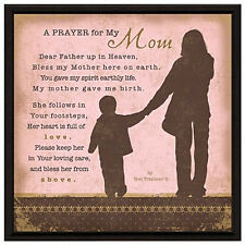Mothers Day Gifts Idea for Mom -Prayer..My Mom Wood Frame Plaque with Easel new