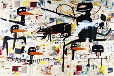 Jean Michel Basquiat Irony Policeman Modern Abstract Canvas Fine Art 20 x 30 A1