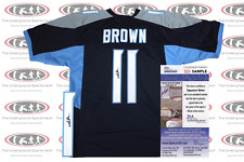AJ Brown Signed Custom Pro Style Jersey JSA Witnessed Titans